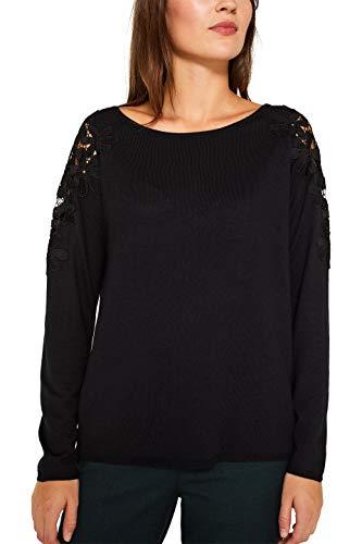 ESPRIT Damen 109Ee1I023 Pullover, Schwarz (Black 001), Medium (Herstellergröße: M)