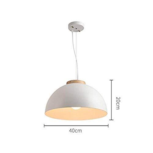 BXU-BG Lámparas colgantes o de madera maciza de restaurante de una sola cabeza Lámparas, Lámparas de hierro moderna simple personalidad Arte Arte semicírculo de iluminación