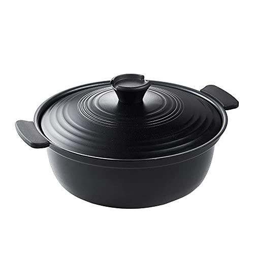 YQG Casseruola per zuppa di Grande capacità per Uso Domestico, pentola da Cucina sicura, Facile da Pulire e Resistente ai Graffi, Adatta per fornelli a induzione, fornelli elettrici, fornelli a