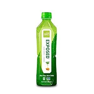 ALO Exposed Aloe Vera Juice Drink, Aloe Vera + Honey, 16.9 Fl Oz (Pack of 12) |