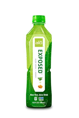 ALO Exposed Aloe Vera Juice Drink Aloe Vera  Honey 169 Fl Oz Pack of 12