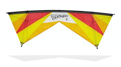 REVOLUTION Kites EXP Sport Wing Kite with Reflex Technology (Handles / Line Set / Instruction Manual / 1 Spare Shaft) (Hot Yellow / Red / Orange)