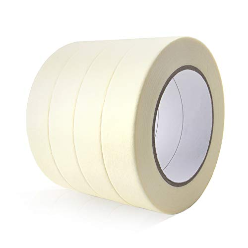 General Purpose Masking Tape for Home and Office, 0.94-Inch x 60 Yards, 4 Rolls, Beige by TIANBO FIRST