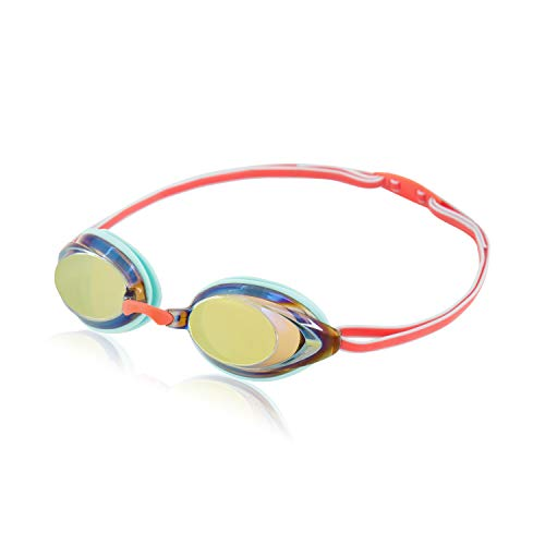Speedo Unisex-Child Swim Goggles Vanquisher 2.0 Junior, Aruba Blue/Amber/Rose Gold