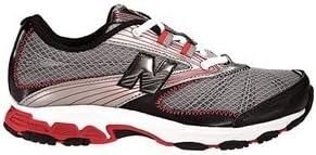 New Balance KJ687 Running Color: Titanium/Red Width: X-Wide Size: Pre-School 10.5