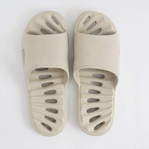 quming Baño Zapatos De Piscina Sandalias De Interior,Zapatillas Ligeras de Verano para Interiores, Zapatillas de baño con Fugas de Secado rápido-Gris_42-43