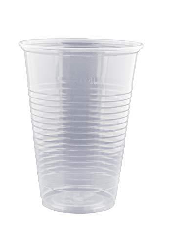 Gastro-Bedarf-Gutheil 200 Stück Trinkbecher Becher 0,4 l transparent 400 ml mit Schaumrand Ausschankbecher Bierbecher Einwegbecher Partybecher