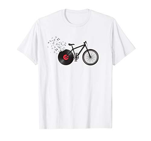 Fahrrad mit Schallplatte für Radfahrer & Musiker Vinyl T-Shirt