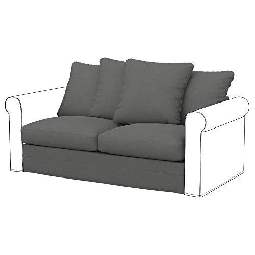 Soferia Funda de Repuesto para IKEA GRONLID módulos sofá Cama de 2 plazas, Tela Elegance Metal Grey, Gris