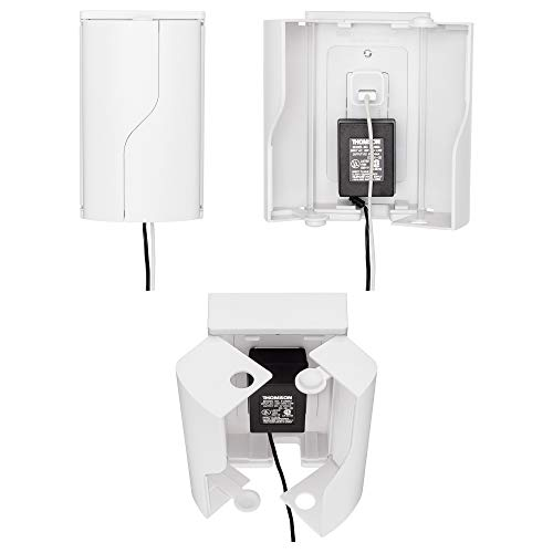 Safety Innovations Twin Door Baby Safety Outlet Cover Box for Babyproofing Outlets - More Interior Space for Extra Large Electrical Plugs and Adapters - Easy to Install - Easy to Use, (1-Pack)