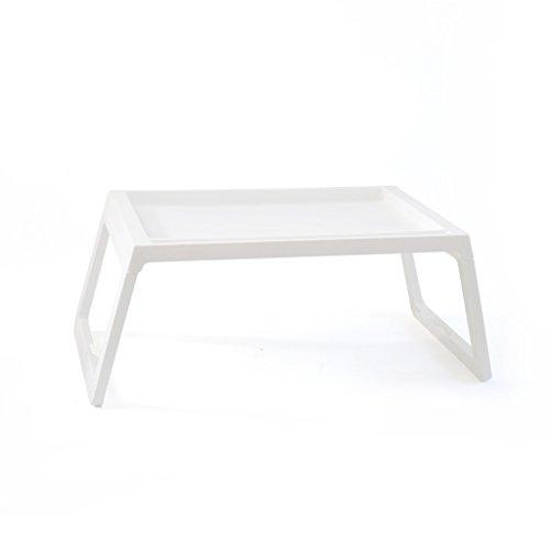 Peaceip Pliante bureau d'ordinateur en plastique Bureau léger Table pour ordinateur portable Table paresseuse sur le lit Table pliante Table pliante pliante, cuisine et table à manger, table pour enfa