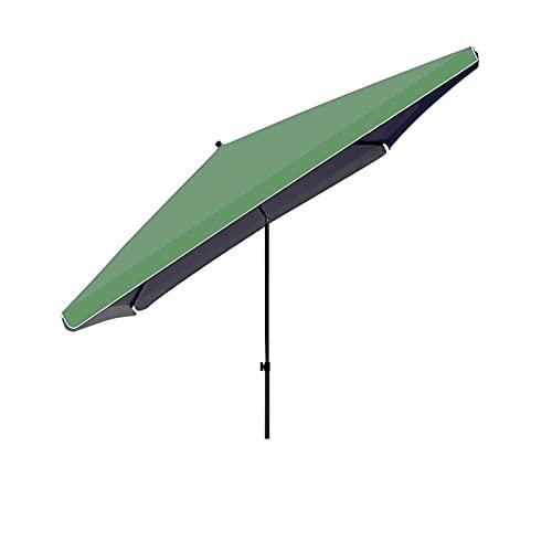LHQ-HQ Paraguas De Patio De 250x250cm, con Paraguas Inclinable con Botón Pulsador Sombrillas Rectangulares para Jardín, Patio Trasero, Patio, Piscina,Verde