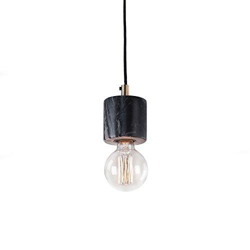 Kave Home - Lámpara de techo Campus negra de 1 bombilla de