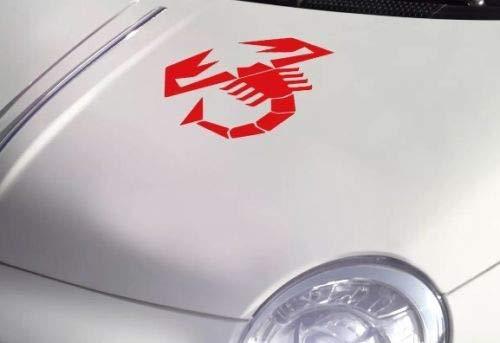 SCOOBY MAD Abarth Skorpion Kofferraumaufkleber für FIAT 500 595, groß, Rot
