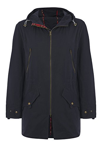 Merc of London Herren BUCKLEY, HOODED SPRING PARKA Jacke, Blau (Navy), Medium (Herstellergröße: M)