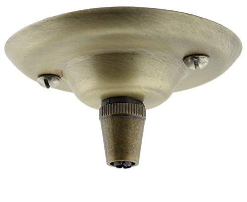 Art Deco Emporium - Kit completo con calotta coprifili per lampadario da soffitto in metallo