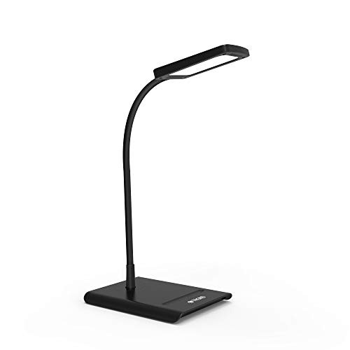 TROND Eye-Care LED Desk Lamp Dimmable, Flexible Gooseneck, 3 Color Temperatures, Non-Glaring for Bedside, Nightstand, Side Table, Office, Reading & Task Lighting
