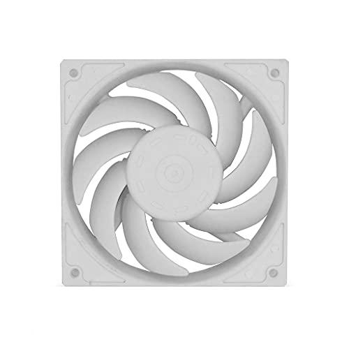 DROHOO Ventilador de refrigeración de CPU de 120 mm, Gran Volumen de Aire, silencioso, Ventilador PWM, chasis, radiador, Enfriador de bajo Perfil, 12 V CC, 4 Pines, CPU, Color Blanco