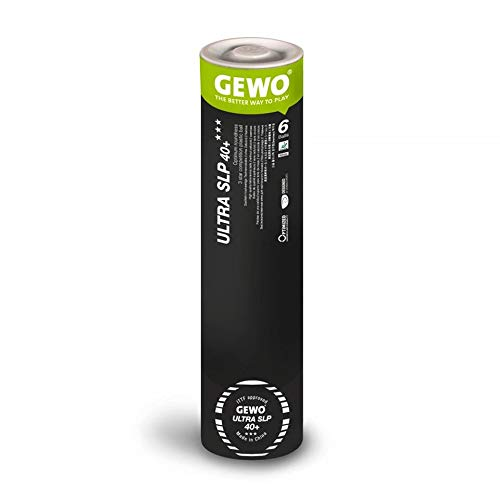 GEWO Ultra SLP ,New Material (Non-Celluloid), 3 Stars Table Tennis Ball, Seamless, White, I.T.T.F. Approved , 6 Balls