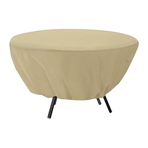 KONFA Heavy Duty Impermeable Rattan Cubo De Muebles Al Aire Libre Cubierta De Altas Prestaciones Material 600D,Beige