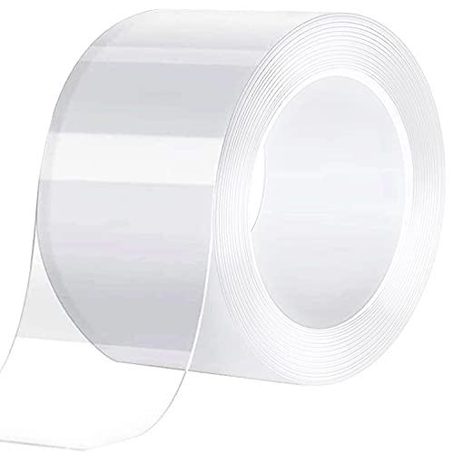 Caulk Tape Clear 2 Inch x 33 Feet, Waterproof, Self Adhesive, Anti-Grease, PMMA Sealing Caulking Strip for Kitchen Sink Bathtub Bathroom Shower Toilet