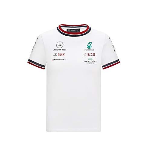 Mercedes-AMG Petronas - Offizielle Formel 1 Merchandise 2021 Kollektion - Jungen - Driver Tee - Kurze Ärmel - Weiß - 128