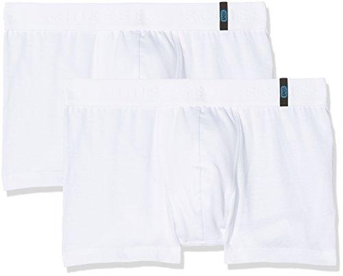 Schiesser Jungen 95/5 Boxershorts 2-er Pack, Weiß (Weiß 100), 140 (Herstellergröße: XS)