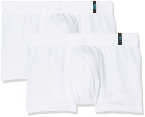 Schiesser Jungen 95/5 Boxershorts 2-er Pack, Weiß (Weiß 100), 164 (Herstellergröße: M)