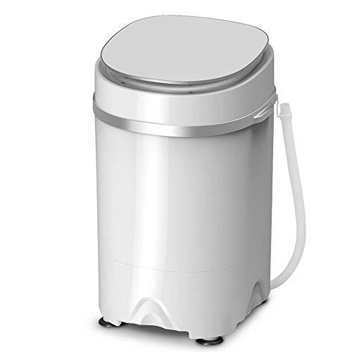 Lavadora, 4,5 kg y un Medio de Lavado portátil Completamente automático de la máquina de un cañón de bebé Completamente automática Rueda Inicio Pequeño Mini Lavadora Mini Barril,Blanco