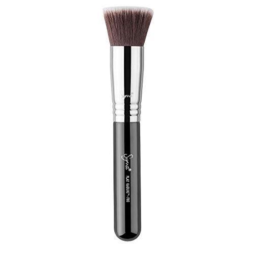 Sigma Beauty Professional F80 Flat Kabuki Highlighter Makeup Brush with Sigmax fibers for Buffing and Blending Liquid…