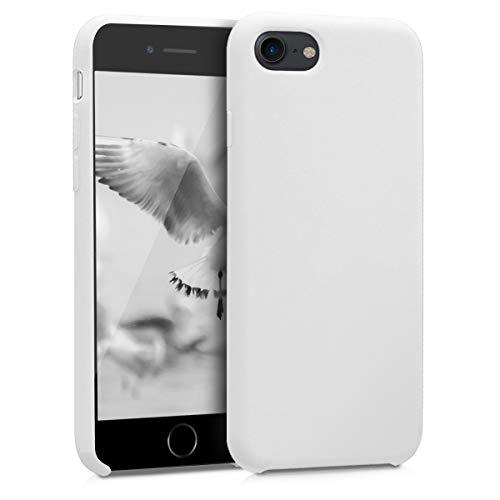 kwmobile Cover per Apple iPhone 7/8 / SE (2020) - Cover Custodia in Silicone TPU - Back Case Protezione Cellulare Bianco
