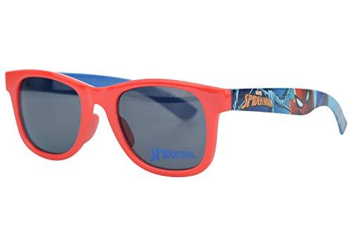 Hovuk® UV400 Lunettes de soleil Spiderman pour enfants à partir de 3 ans - Rouge -