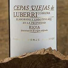 Botella de Vino Tinto Cepas Viejas de Luberri 2016 Denominación Origen Rioja