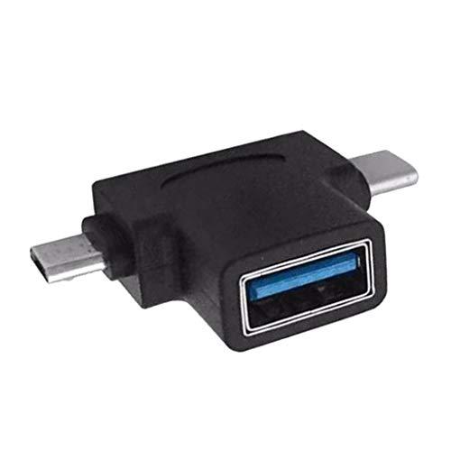 IPOTCH Adattatore OTG Multiporta USB 3.1 Tipo-C + Micro USB Maschio a USB 3.0 Convertitore a Assy