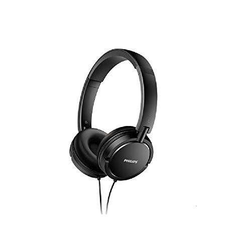 Philips SHL5030BK/00 Auricular Supraaural Gancho de Oreja Negro - Auriculares (Supraaural, Gancho de Oreja, Alámbrico, 9-24000 Hz, 1,2 m, Negro)