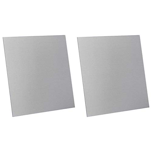 2 Pcs 3003 H14 Aluminum Sheet, 6' x 6', 0.032'(0.81mm) Thickness, Double-Sided Film Attached Aluminum Plates