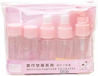 7Pcs/Set Travel Kit Empty Lotion Cosmetic Makeup Case Container Spray Bottle Pot Portable Refillable Empty Makeup Bottle(P...