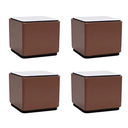 4er Set Möbelfüße Möbelerhöher,Tragfähigkeit 1000 kg, Betterhöhung Stuhlerhöhung Quadratisch Möbelerhöhung Erhöhen Sie die, Höhe der Stauraum, von Tisch Stuhl oder andere Möbel für Bett Sofa Tisch