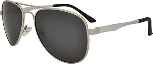 SQUAD Gafas de sol hombre y mujer polarizadas Piloto 100% protección UV400 Doble puente