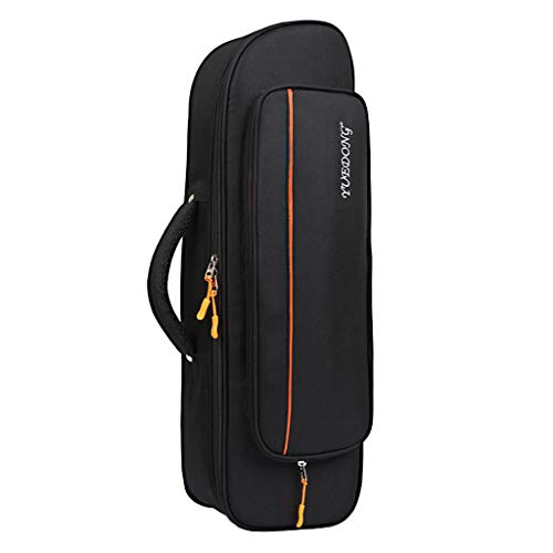SDENSHI Tasche für Trompete - Schwarz - Trompete Koffer Gigbag Oxford Tuch Wasserdichte Trompete Tragetasche mit Schultergurt