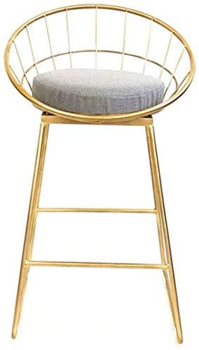 LJBXDCZ NJ barkruk - Moderne metalen barkruk met rugleuning, keuken Pub stoelen voor bistro of cafe reception vanity kruk, zithoogte