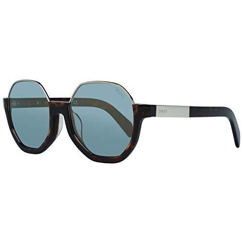 Emilio Pucci EP0089 52X 55 Gafas de sol, Marrón (Avana Scura/Blu Specchiato), 55 Unisex Adulto