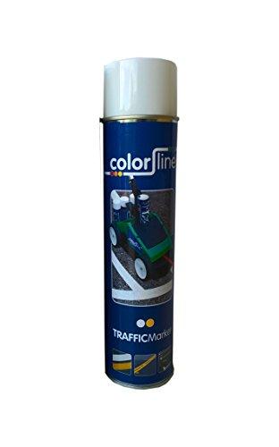 Fahrbahnmarkierung Markierfarben für ColorLine Markierwagen - exakte perfekte Bodenmarkierungen auf Ihren Parkplätzen und Betriebswegen (weiß 12 Dosen)