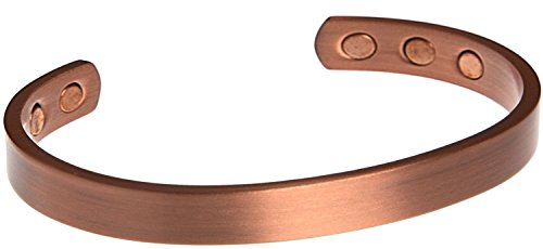 Copper Bracelets for Arthritis Magnetic with Therapy Pain Relief Magnets (Plain Copper)
