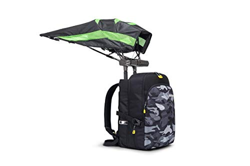 FUNSHELL Laptop Backpack for Men Women Fits 15.6 Inch Laptop, Built in Umbrella, Speakers with Bluetooth Controller, Water Resistant Casual Daypack Travel School College Business Commute