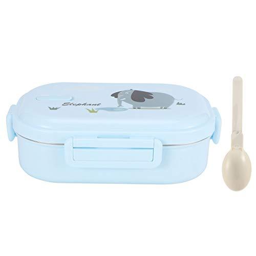 Geïsoleerde Lunchbox lekvrij roestvrij staal Bento Box Japanse voedselcontainer voor kinderen (massief blauw – olifant)