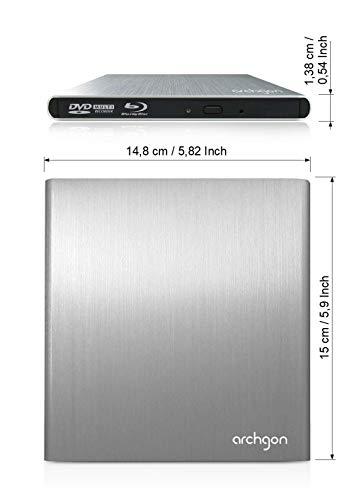 Archgon MD-3107-U2DVDRW - Unidad externa de aluminio para DVD+RW, MacBook Air, Pro, iMac, Mini