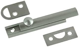 Belwith Products 1849-SN Satin Nickel Finish Slide Surface Door Bolt (Solid Brass), 3-Inch