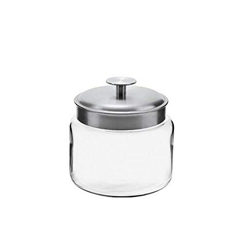 Anchor 77976 Montana Jar with Brushed Aluminum Metal Cover, 48 oz.