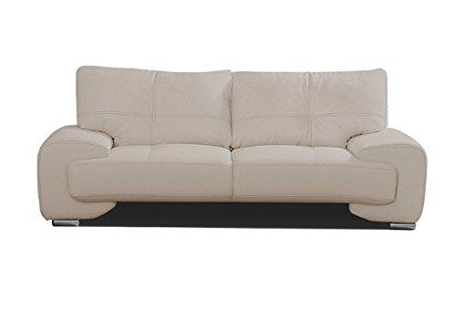 Canapé fixe 3 places Beige Tissu